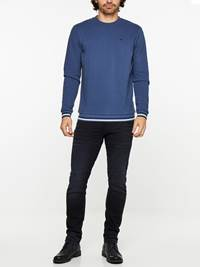 SLIM WILL BLACK KNIT STRETCH JEANS 7239679_D04-HENRYCHOICE-A19-Modell-front_65116_SLIM WILL BLACK KNIT STRETCH JEANS D04.jpg_Front  Front