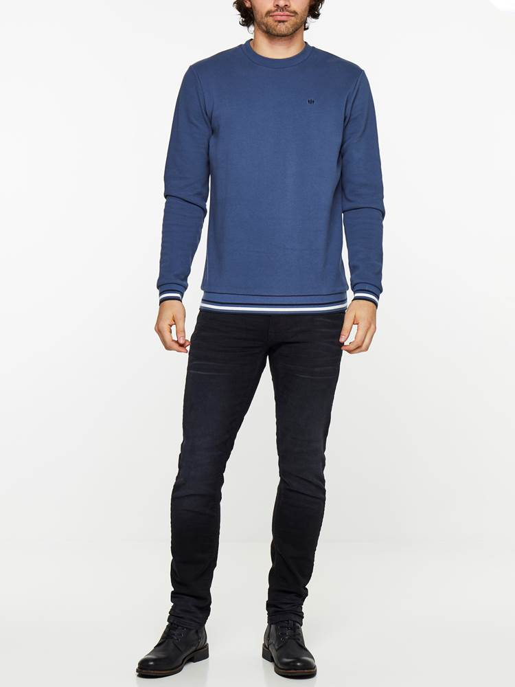 SLIM WILL BLACK KNIT STRETCH JEANS 7239679_D04-HENRYCHOICE-A19-Modell-front_65116_SLIM WILL BLACK KNIT STRETCH JEANS D04.jpg_Front||Front