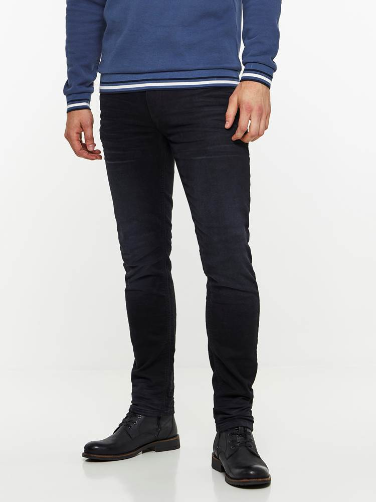 SLIM WILL BLACK KNIT STRETCH JEANS 7239679_D04-HENRYCHOICE-A19-Modell-front_89949_SLIM WILL BLACK KNIT STRETCH JEANS D04.jpg_Front||Front