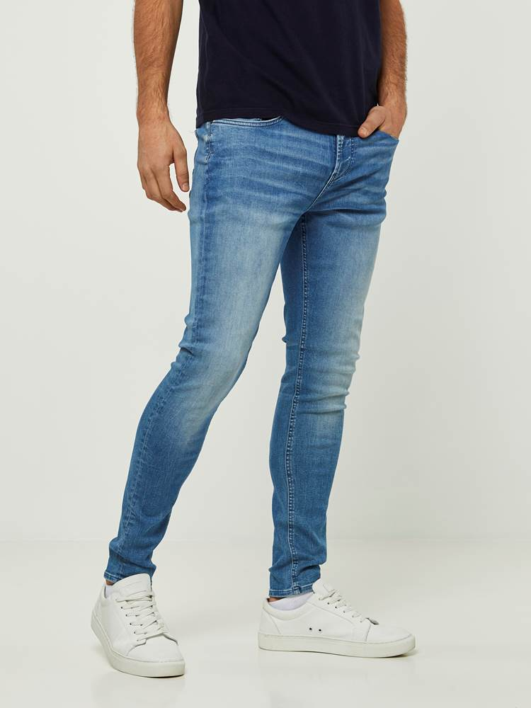 SKINNY STAN MID BLUE SUPER STRETCH JEANS 7242634_DAB-HENRYCHOICE-S20-Modell-left_85467_SKINNY STAN MID BLUE SUPER STRETCH JEANS DAB.jpg_Left||Left