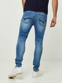 SKINNY STAN MID BLUE SUPER STRETCH JEANS 7242634_DAB-HENRYCHOICE-S20-Modell-back_8674_SKINNY STAN MID BLUE SUPER STRETCH JEANS DAB.jpg_Back||Back