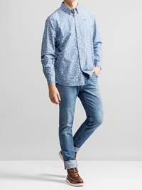 Heritage Chambray Skjorte 7232303_JEAN PAUL_HERITAGE CHAMBRAY SHIRT_FRONT1_L_EGW_Heritage Chambray Skjorte EGW.jpg_Front||Front