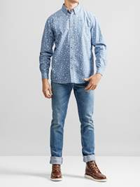 Heritage Chambray Skjorte 7232303_JEAN PAUL_HERITAGE CHAMBRAY SHIRT_FRONT_L_EGW_Heritage Chambray Skjorte EGW.jpg_Front||Front