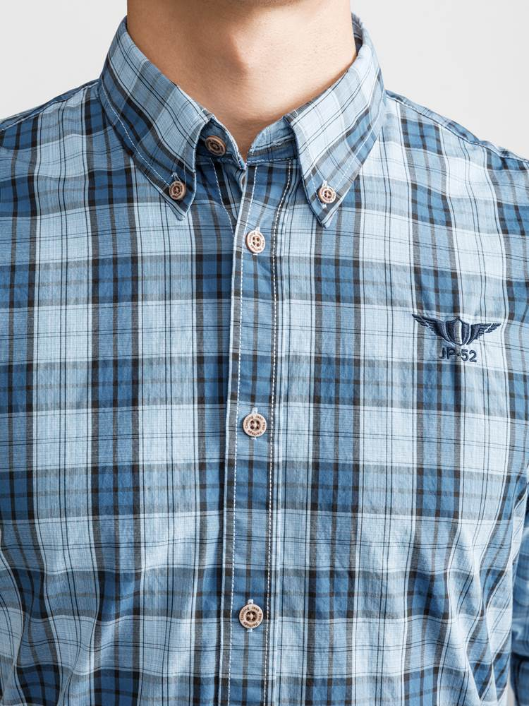 Heritage Summer Check Skjorte 7232308_JP52_HERITAGE SUMMER CHECK_DETAIL_L_EBB_Heritage Summer Check Skjorte EBB.jpg_Right||Right