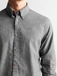 Hill Skjorte - Regular Fit 7235181_JP52_HILL MELANGE II BD SHIRT_DETAIL_M_I6W_Hill Skjorte I6W_Hill Skjorte - Regular Fit I6W.jpg_