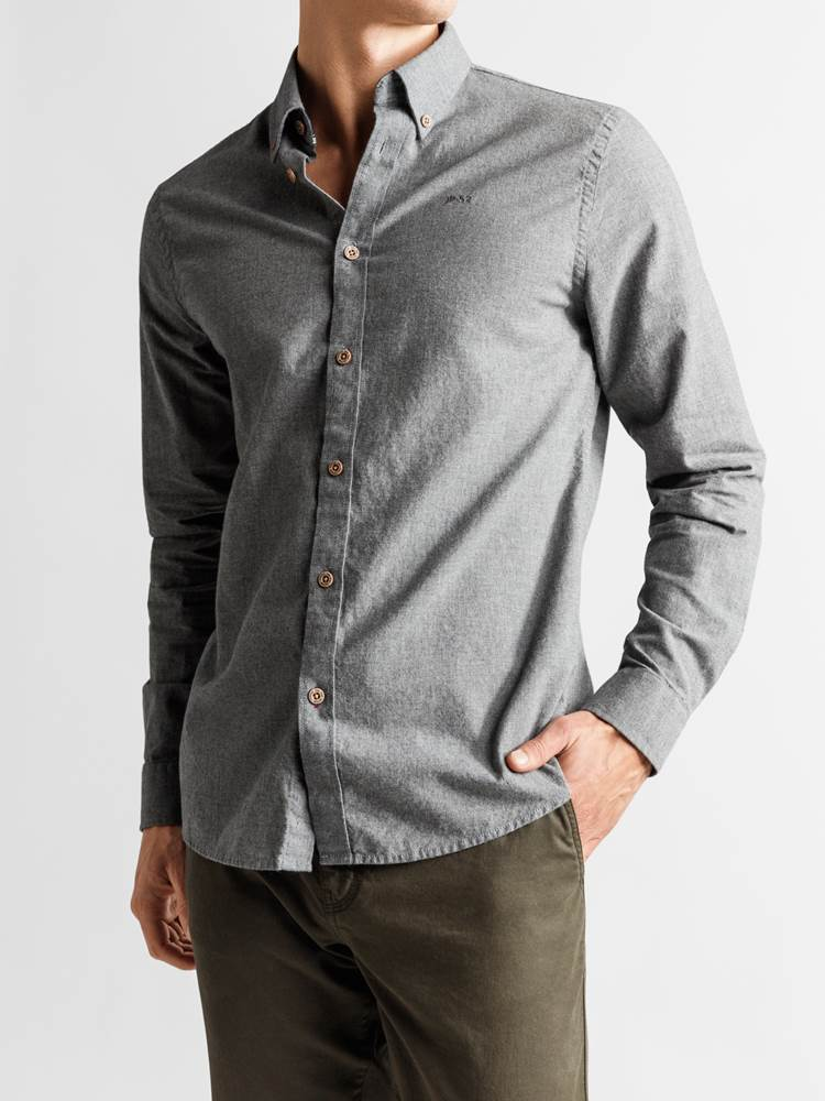 Hill Skjorte - Regular Fit 7235181_JP52_HILL MELANGE II BD SHIRT_FRONT_M_I6W_Hill Skjorte I6W_Hill Skjorte - Regular Fit I6W.jpg_