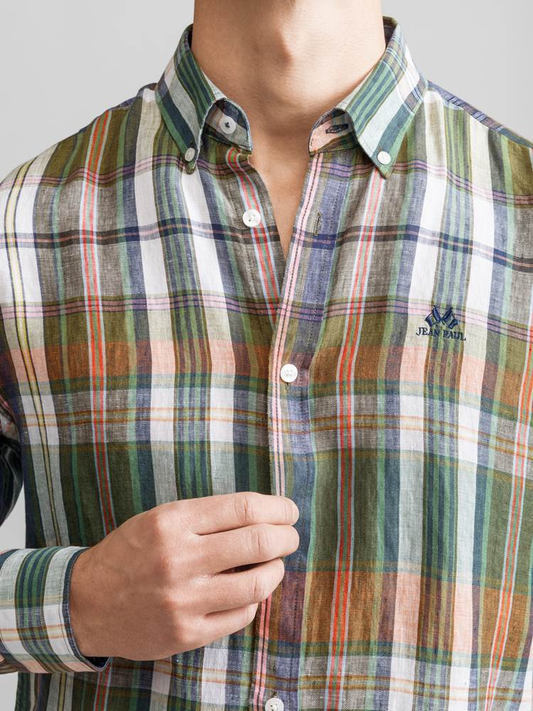 Fabrice Linskjorte 7231169_JEAN PAUL_FABRICE LINEN SHIRT_DETAIL_AIA_Fabrice Linskjorte AIA.jpg_Front||Front