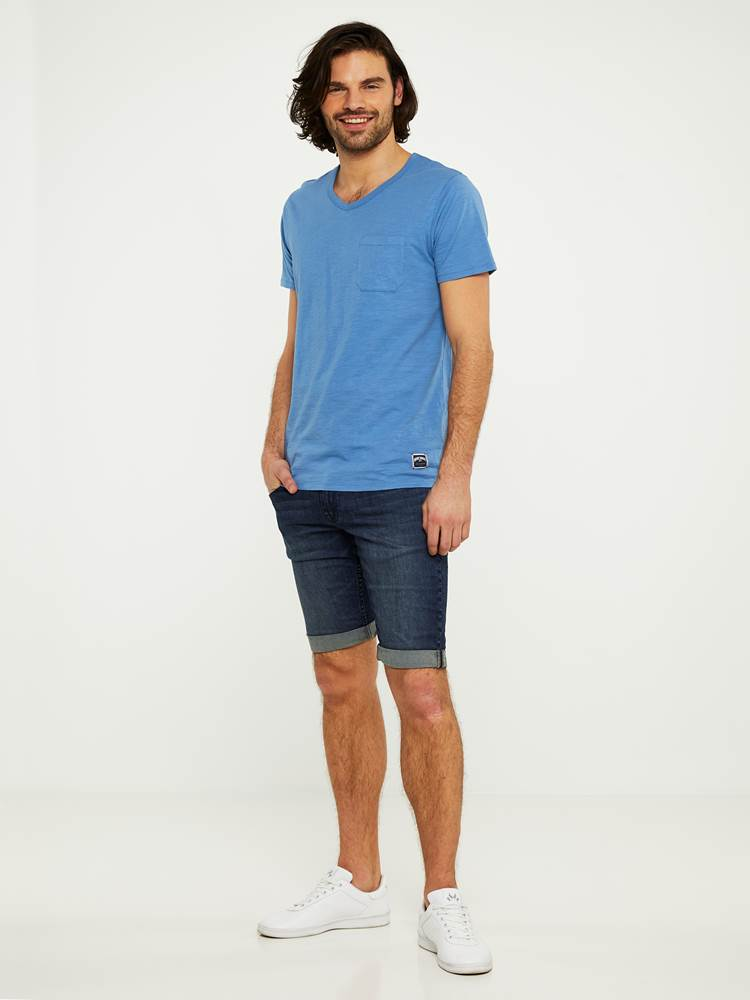 LEGEND BLUE STRETCH BERMUDA SHORTS 7242648_D04-HENRYCHOICE-S20-Modell-right_1013.jpg_Right||Right