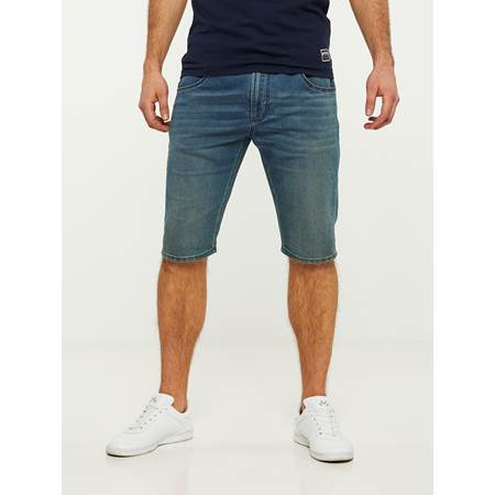PHIL BLUE KNIT STRETCH BERMUDA SHORTS