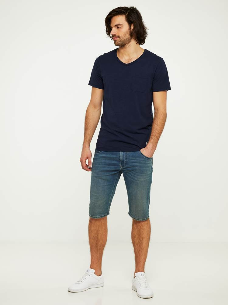 PHIL BLUE KNIT STRETCH BERMUDA SHORTS 7242729_DAB-HENRYCHOICE-H20-Modell-right_31865.jpg_Right||Right
