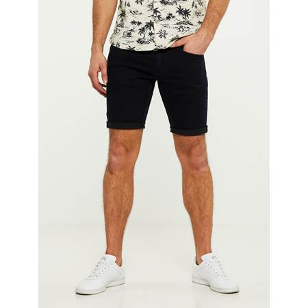 SLIM BLU OD BLK. STRETCH BERMUDA SHORTS