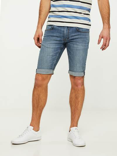 LEGEND BLUE STRETCH BERMUDA SHORTS DAD