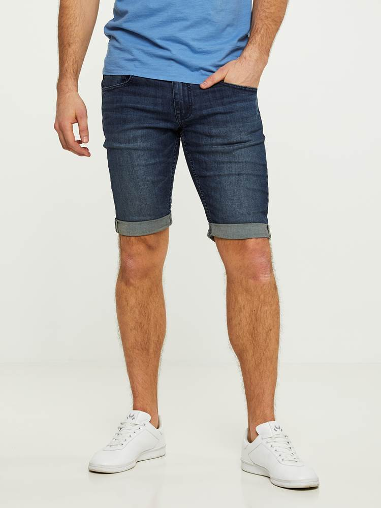 LEGEND BLUE STRETCH BERMUDA SHORTS 7242648_D04-HENRYCHOICE-S20-Modell-front_6422_LEGEND BLUE STRETCH BERMUDA SHORTS D04.jpg_Front||Front