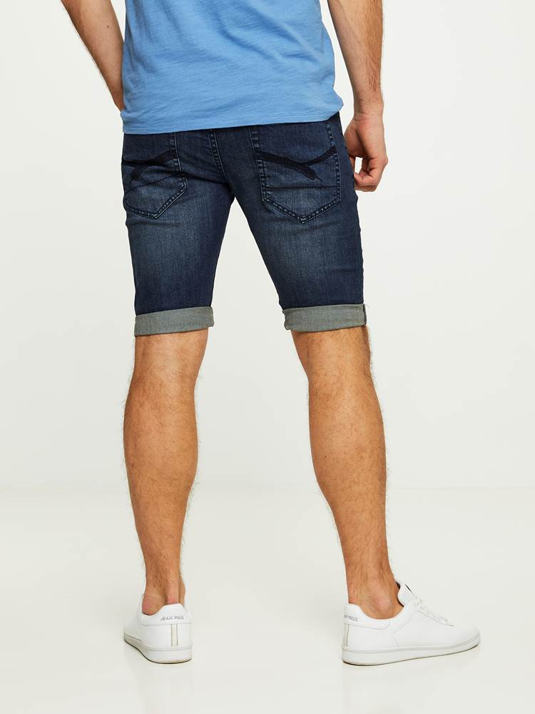 LEGEND BLUE STRETCH BERMUDA SHORTS 7242648_D04-HENRYCHOICE-S20-Modell-back_48356_LEGEND BLUE STRETCH BERMUDA SHORTS D04.jpg_Back||Back