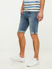 LEGEND BLUE STRETCH BERMUDA SHORTS 7242648_DAD-HENRYCHOICE-S20-Modell-left_8523_LEGEND BLUE STRETCH BERMUDA SHORTS DAD.jpg_Left||Left