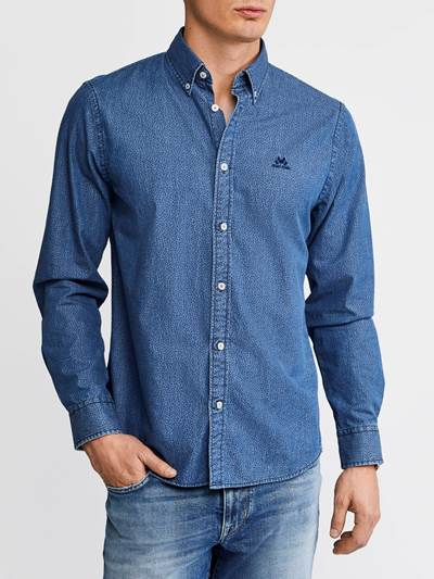 Heritage Indigo Skjorte - Regular Fit EGW