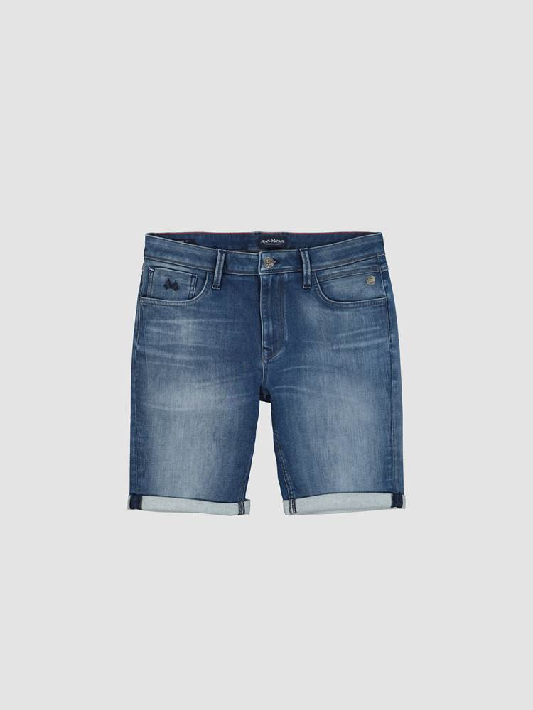 Andre Knit Denim Shorts 7246835_DAB-JEANPAUL-H21-front_35188_Andre Knit Denim Shorts_Andre Knit Denim Shorts DAB.jpg_Front||Front