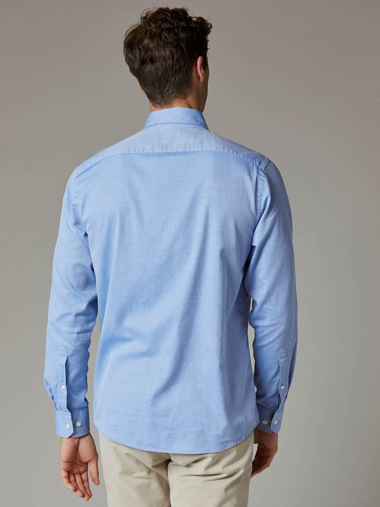 Carl Twill Skjorte - Regular Fit 7241951_EOV-JEANPAUL-S20-Modell-back_74584_Carl Twill Skjorte - Regular Fit EOV.jpg_Back||Back