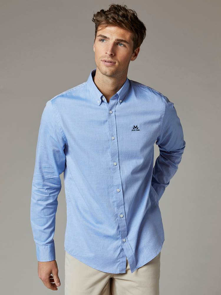 Carl Twill Skjorte - Regular Fit 7241951_EOV-JEANPAUL-S20-Modell-front_29939_Carl Twill Skjorte - Regular Fit EOV.jpg_Front||Front