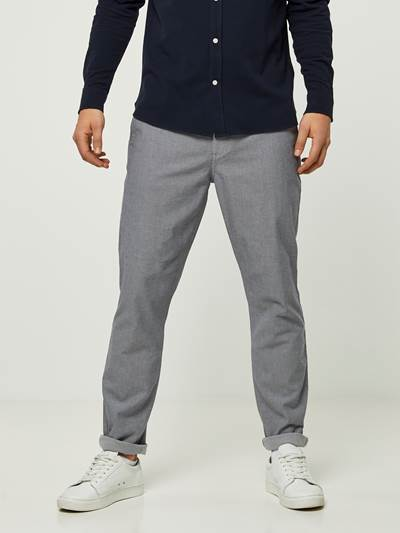 SLIM GREY MELANGE STRETCH CHINO IEL