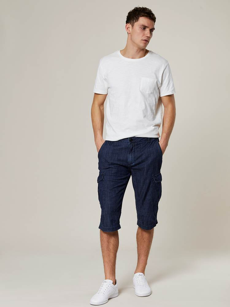 Lucas Cargo Denim Shorts