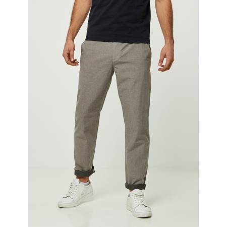 SLIM BEIGE MELANGE STRETCH CHINO