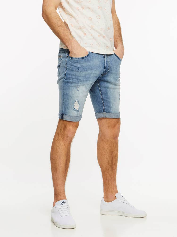 TROY BLUE BROKES STRETCH SHORTS 7237695_DAD-HENRYCHOICE-H19-Modell-right_52766_TROY BLUE BROKES STRETCH SHORTS DAD.jpg_Right||Right