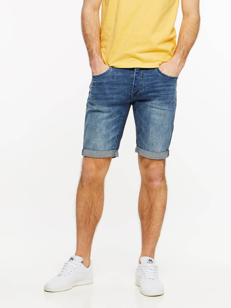 TROY BLUE STRETCH SHORTS 7237667_DAB-HENRYCHOICE-H19-Modell-front_70504_TROY BLUE STRETCH SHORTS DAB_Troy Blue Str. Bermuda.jpg_Front||Front