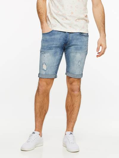 TROY BLUE BROKES STRETCH SHORTS DAD