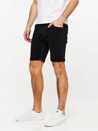 SLIM FIT BLACK BLACK STRETCH SHORTS 7237718_DAA-MADEBYMONKIES-H19-Modell-left_22304_SLIM FIT BLACK BLACK STRETCH SHORTS DAA_Slim Fit BB Str. Bermuda.jpg_Left||Left