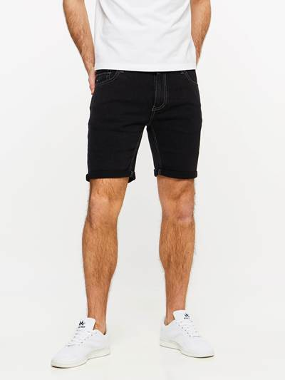 SLIM FIT BLACK BLACK STRETCH SHORTS DAA