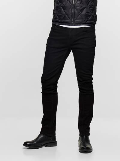 SLIM FIT BLACK BLACK STRETCH DAI