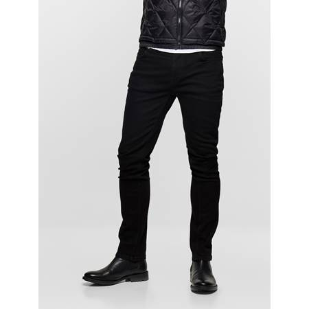 SLIM FIT BLACK BLACK STRETCH