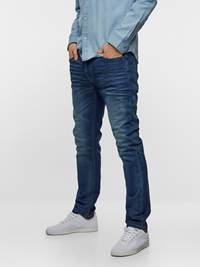 SLIM WILL KNIT STRETCH 7237538_DAB-HENRYCHOICE-S19-Modell-left_60535_SLIM WILL KNIT STRETCH JEANS DAB_SLIM WILL KNIT STRETCH DAB.jpg_Left||Left