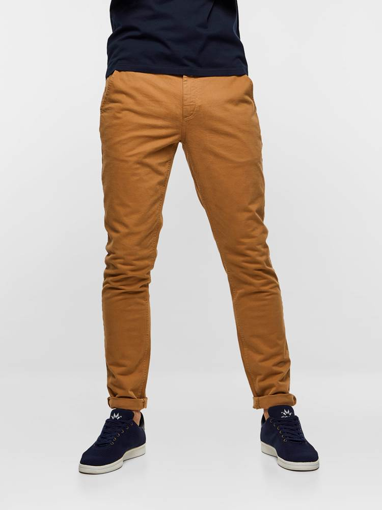 SLIM CHINO STRETCH TWILL 7237630_AO5-MADEBYMONKEYS-S19-Modell-Front_SLIM CHINO STRETCH TWILL AO5.jpg_Front||Front