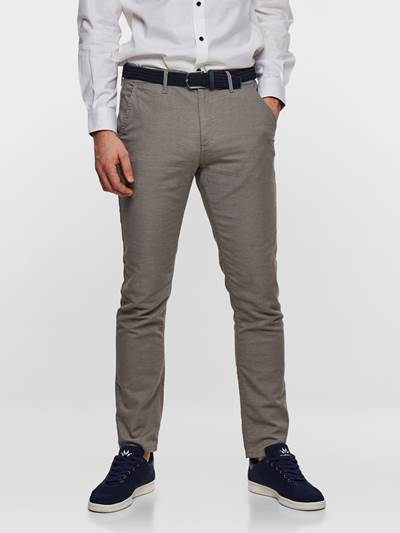 SLIM CHINO STRUCTURE STRETCH IEF
