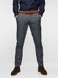 SLIM CHINO STRUCTURE STRETCH 7237631_EM6-MADEBYMONKIES-S19-Modell-front_20407_SLIM CHINO STRUCTURE STRETCH EM6.jpg_Front||Front