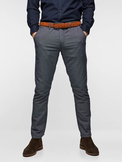 SLIM CHINO STRUCTURE STRETCH EM6