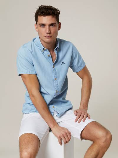 Deering Baby Blue Kortermet Skjorte - Regular Fit DAE
