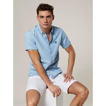 Deering Baby Blue Kortermet Skjorte - Regular Fit