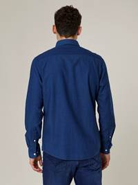 Anton Indigo Oxford Skjorte - Regular Fit 7244147_D03-JEANPAUL-A20-Modell-back_3960_Anton Indigo Oxford Skjorte - Regular Fit D03.jpg_Back||Back