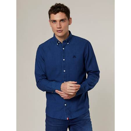 Anton Indigo Oxford Skjorte - Regular Fit