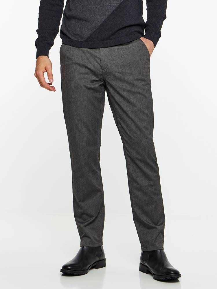 SLIM CHINO MELANGE STRETCH PANT 7239653_ID9-MADEBYMONKIES-A19-Modell-front_82347_SLIM CHINO MELANGE STRETCH PANT ID9.jpg_Front||Front