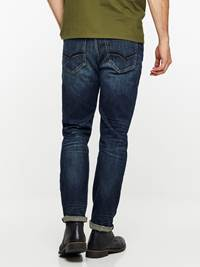 REGULAR ROD DEEP BLUE STRETCH JEANS 7239669_D06-HENRYCHOICE-A19-Modell-back_53234_REGULAR ROD DEEP BLUE STRETCH JEANS D06.jpg_Back||Back