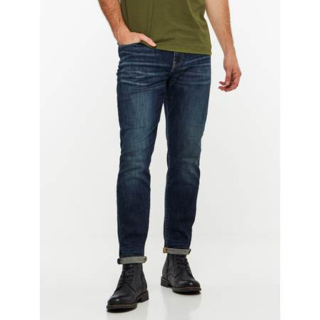 REGULAR ROD DEEP BLUE STRETCH JEANS