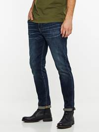REGULAR ROD DEEP BLUE STRETCH JEANS 7239669_D06-HENRYCHOICE-A19-Modell-left_27599_REGULAR ROD DEEP BLUE STRETCH JEANS D06.jpg_Left||Left