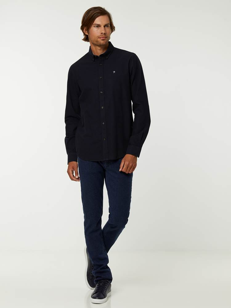 BRUSHED OXFORD SKJORTE 7244568_C27-HENRYCHOICE-A20-Modell-front_34812_BRUSHED OXFORD SKJORTE C27.jpg_Front||Front
