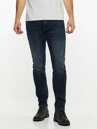 SLIM WILL BLUE OVERDYED STRETCH JEANS 7239664_DAB-HENRYCHOICE-A19-Modell-front_95548_SLIM WILL BLUE OVERDYED STRETCH JEANS DAB.jpg_Front||Front