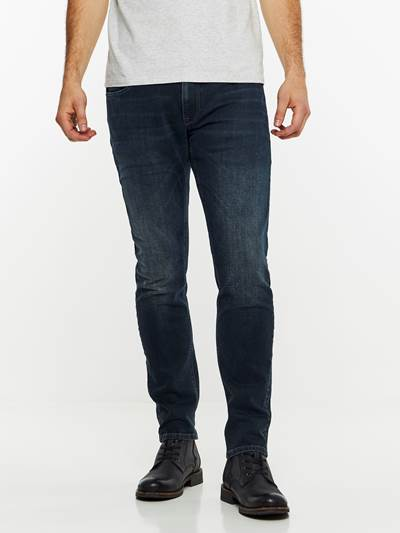 SLIM WILL BLUE OVERDYED STRETCH JEANS DAB