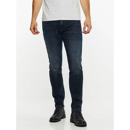SLIM WILL BLUE OVERDYED STRETCH JEANS